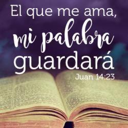 """Yo creo en esta palabra - Juan 14:23 """"Respondió Jesús y le dijo: El que me ama, mi palabra guardará; y mi Padre le amará, y vendremos a él, y haremos morada con él."""""""