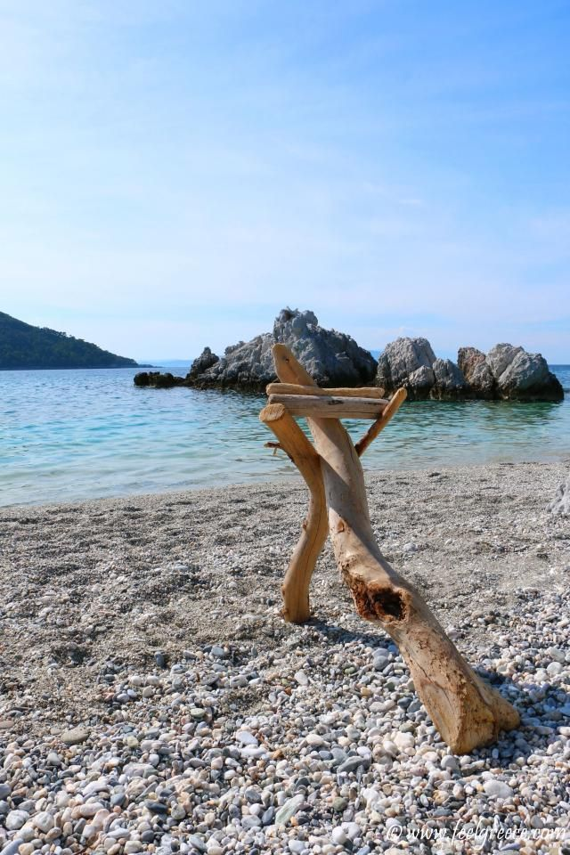 beach art; photo from Milia, Skopelos