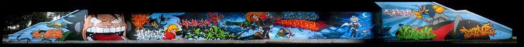 Big Walls By Dane, Rock, Golf , Lame , Yulk, Wira, Sake One, Lois, Asfen, Bonar, Cosla, Neik, Yasone - Bruxelles (Belgium) - Street-art and Graffiti   FatCap