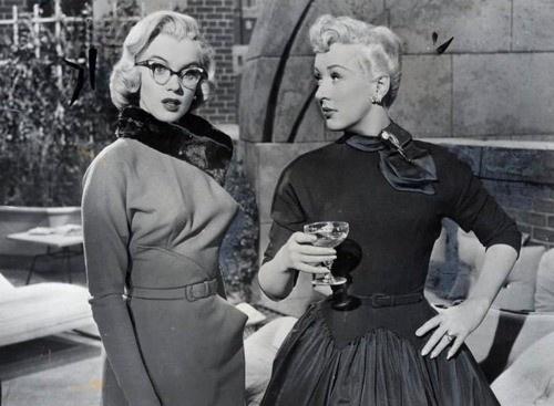 Betty Grable and Marilyn Monroe in gentlemen prefer blondes