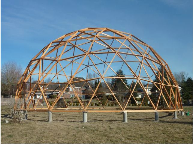 http://geodesicgreenhouse.org/the-easydome-system-a-diy-biodome-geodesic-greenhouse-manual