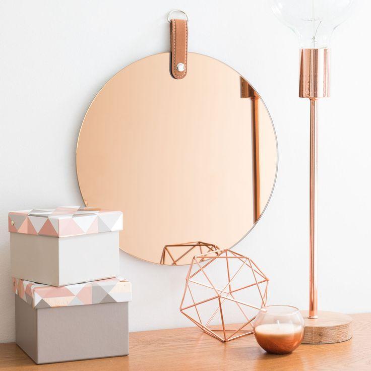 Meer dan 1000 idee n over ronde spiegels op pinterest for Miroir rose gold
