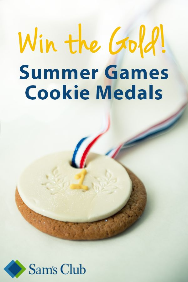 Be a winner when hosting a Summer Games watch party by providing sugar cookie medals to guests. Just grab sugar cookies from your local Sam's Club to make impressive favors and desserts for your guests. Create your own Summer Game-style contest for a unique and flavorful event!