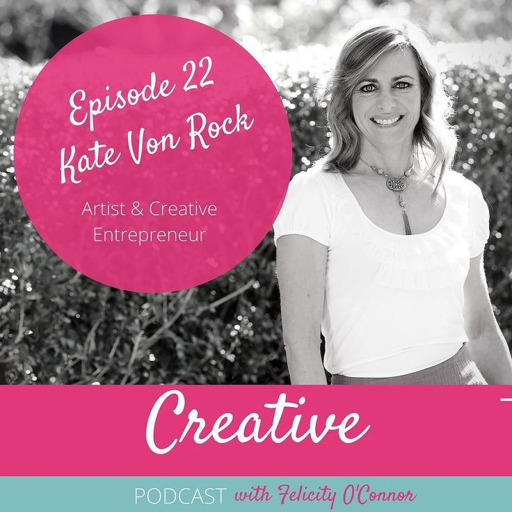 This weeks episode is with the amazing artist and creative entrepreneur Kate Von Rock! Born to be an artist Kate talks about how she got involved in politics negotiated a creative space for the local Tasmanian creative community started a successful online auction space for artists and fought off rejection to become the inspirational person she is!  Link to listen to this episode is in the bio above  . @vonrockartauctions . . #podcast #thiscreativelife #felicityoconnorartist #creativespace…