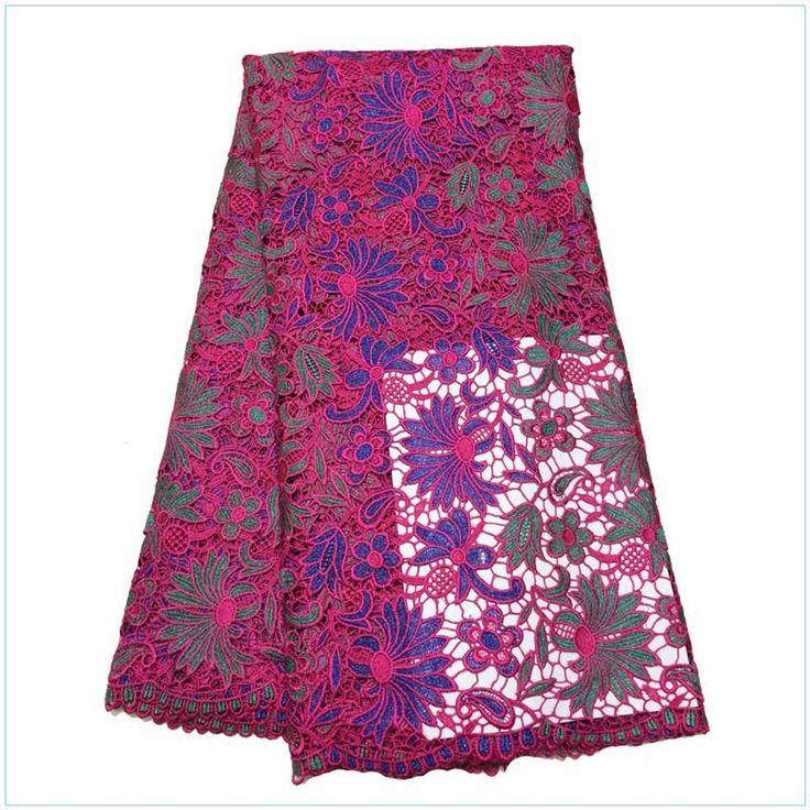 Бесплатная Доставка!! Высокое качество вышивка дизайн/ африканский двойной цвет гипюр кружевная ткань для свадьба нет.D5775