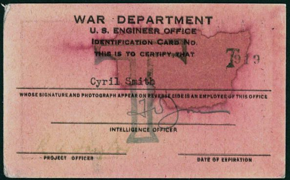 Tinian Island Pass, 1945. Tinian Island Pass issued by the War Department, U.S Engineer Office, to Cyril Stanley Smith. [Hiroshima and Nagasaki bombs were assembled on Tinian] military passes War Department United States, 1945. (Photo by Science & Society Picture Library/SSPL/Getty Images)