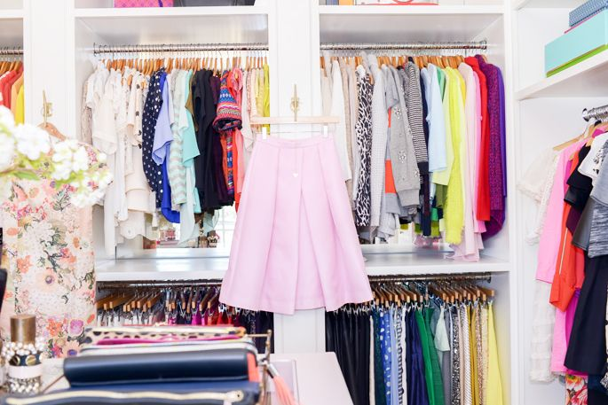 Rachel Parcell's dream closet // Pink Peonies.
