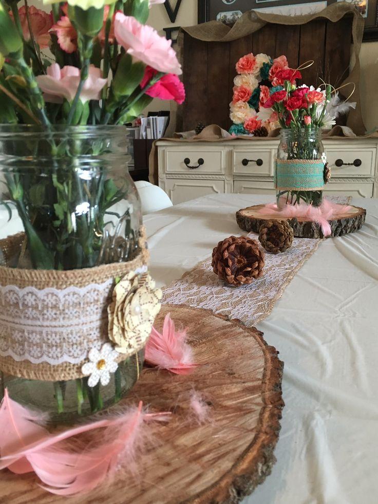 woodsy chic rustic themed baby shower brunch details. Black Bedroom Furniture Sets. Home Design Ideas