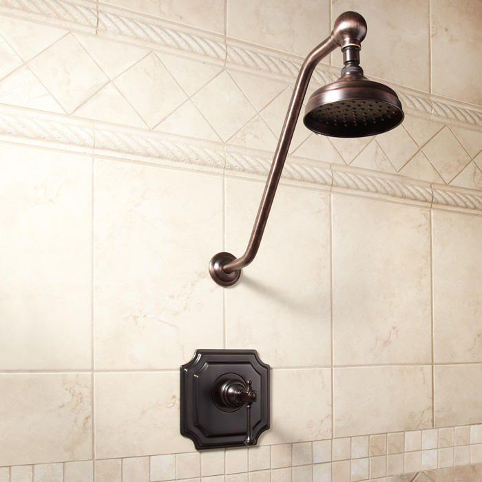 Vintage Shower Set At Signature Hardware Bathroom