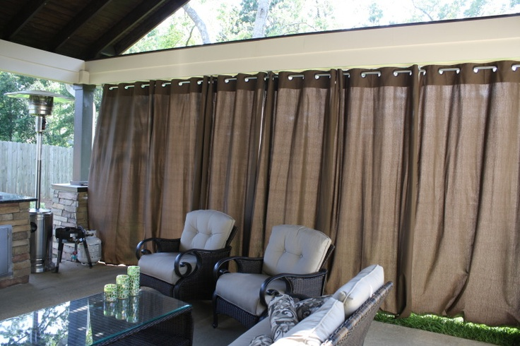 Hanging Outdoor Curtains For The Home Pinterest