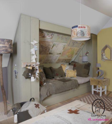 Bedstee van wwwnl met Old Maps behang van Room Seven  Fint lsning for  skrtak