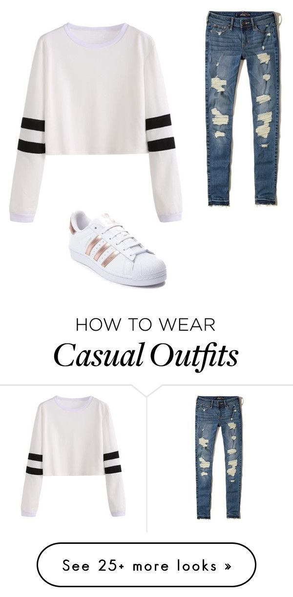 """Casual"" by nuevesa on Polyvore featuring Hollister Co. and adidas"