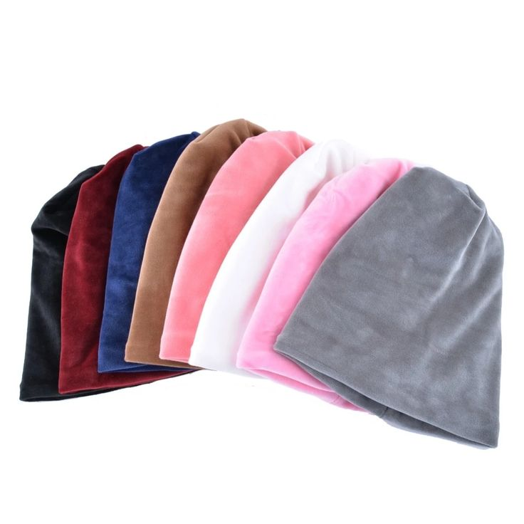 Solid Color Hat Scarf Sets Woman'S Beanie Warm Velvet Bonnet Winter Hats For Women Turban Cap Ladies Scarves Warm Neck Caps – Fashion 2019/2020