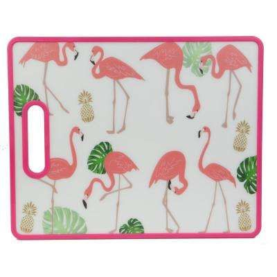 Tropical Collection Flamingo Plastic Cutting Board