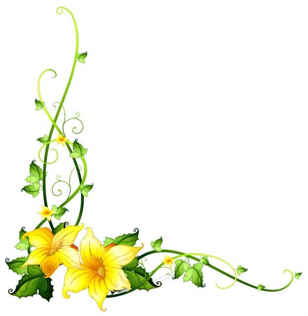 Download Border Template With Yellow Flowers For Free Flower Border Clipart Yellow Flowers Flower Border Png