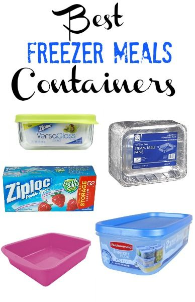 We have found some great food freezer containers. Today I wanted to help you find the best way to store your freezer meals. |happymoneysaver.com