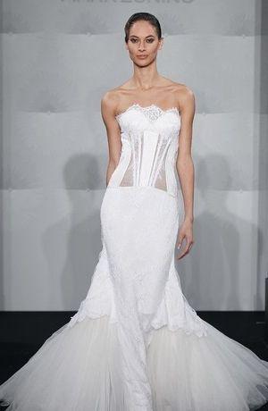 Mark Zunino - Sweetheart Mermaid Gown in Silk Duchess Satin
