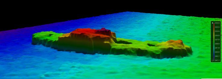 Image acoustique 3D de l'épave du Carolus au sondeur Multifaisceau 7125 SV2 de…