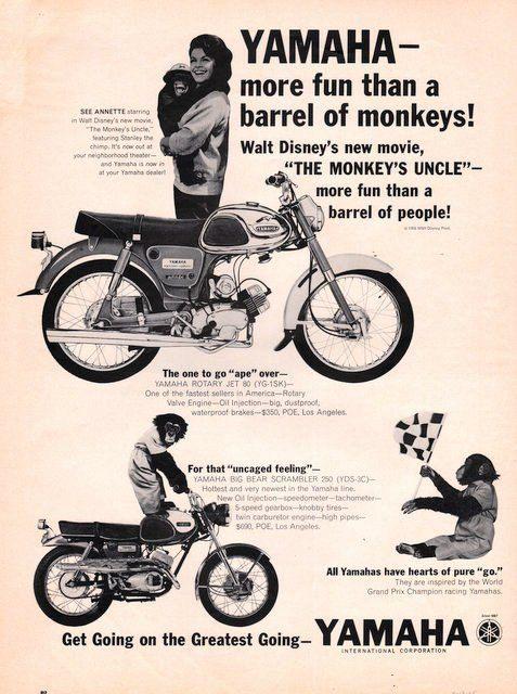 1965 Walt Disney The Monkey's Uncle Yamaha motorcycle by Vividiom, $9.00