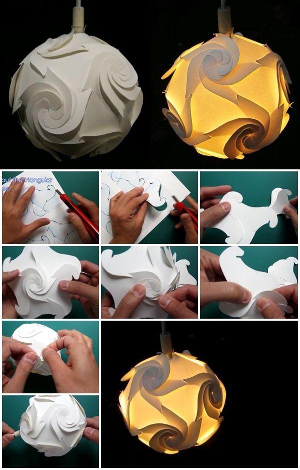 How to Make Cyclone Paper Lampshade | UsefulDIY.com