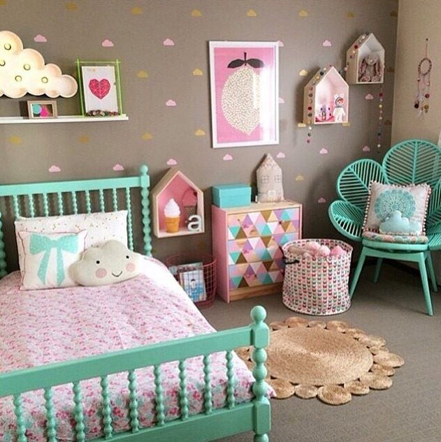 Little Girls Bedroom Colors New York Bedroom Curtains Small Bedroom Chairs For Adults Home Decor Bedroom: Quarto De Menina - Candy Colors.
