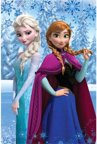 Frozen Fleeceteppe Elsa & Anna