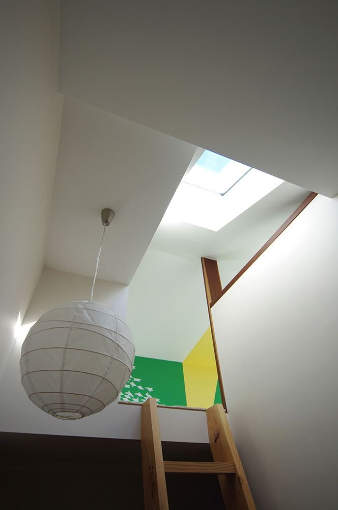 Glimpses of loft spaces from below