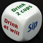 Σετ 1pcs Κόμμα Ποτό decider Παιχνίδια με ζάρια Παμπ Μπαρ Διασκέδαση Die παιχνίδι δώρων KTV Μπαρ παιχνίδι κατανάλωσης Ζάρια