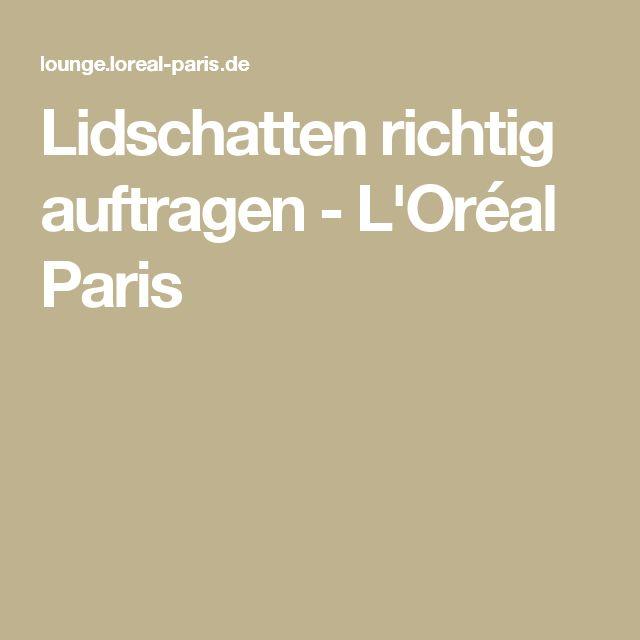 Lidschatten richtig auftragen - L'Oréal Paris