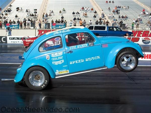 drag racing | VW Drag Racing Wheelie- Photo