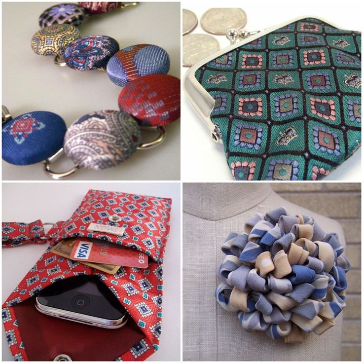 ...find time to upcycle old ties into some of the nifty projects on this site.