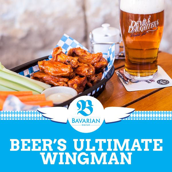 Wing lovers unite! You can now get down and saucy with beer's ultimate wingman at your local Bavarian Bier Cafe, thanks to our all-new chicken wings menu!