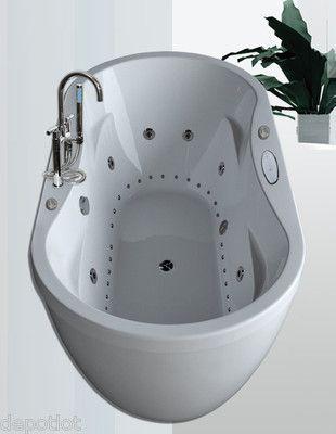 36x71 dual whirlpool / air system bathtub ~ 8 water jets / 26 air