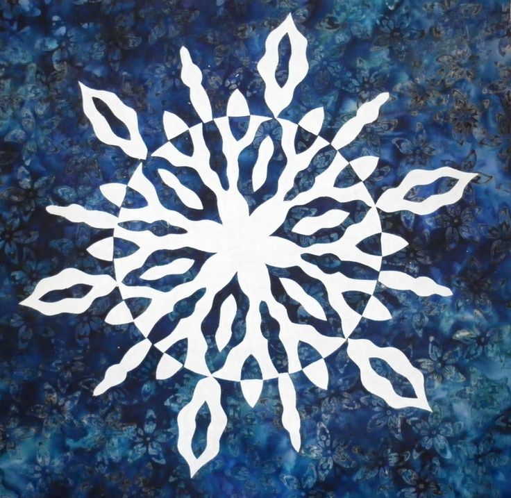 I started with a circle and cut the pattern to look like a snowflake. One side of the white fabric had some sparkles on it. I realized that...