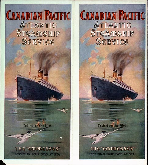 Atlantic Steamship Service ( Empress of Ireland ): Vintage Poster