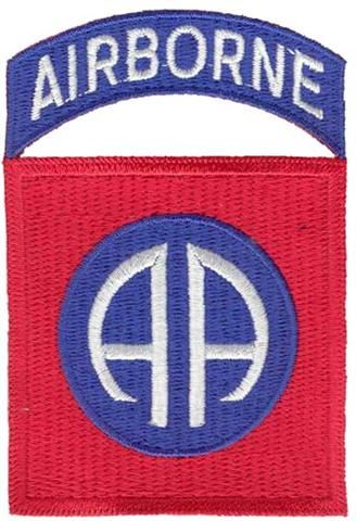 The 82nd Airborne Division insignia...ALL AMERICAN