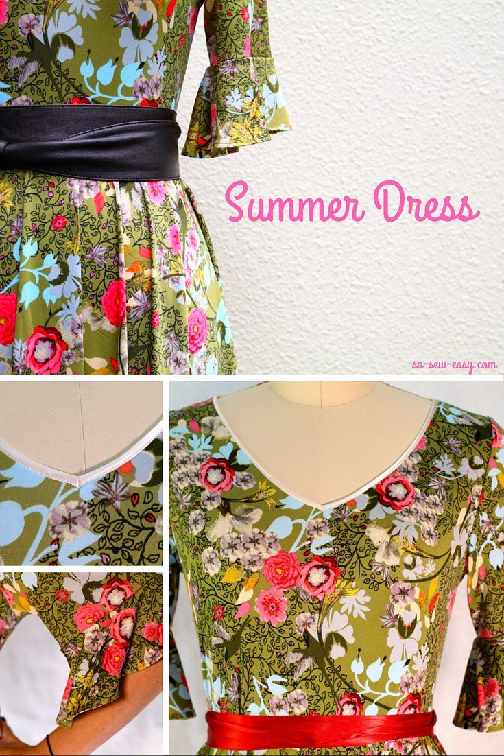This dress is a very easy summer dress to make. It does take a bit of effort to prepare the fabric, but once you are ready, it can be sewn in 30 minutes.