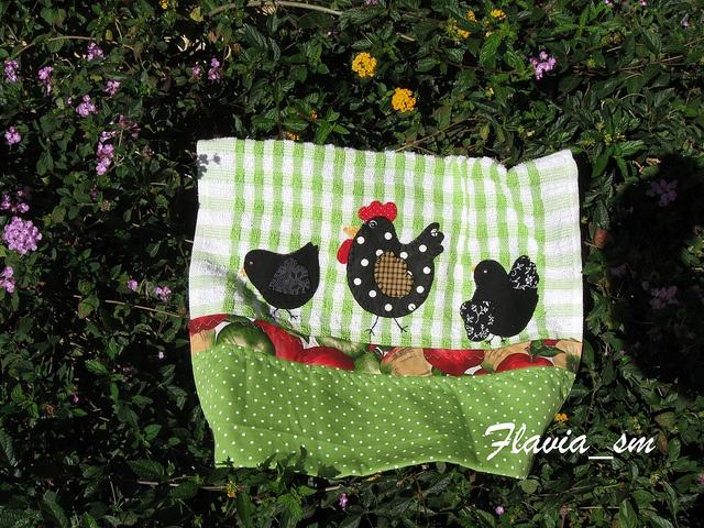 Flávia 706/Pano de louça by flavia_sm1963, via FlickrFlickr, Applique Quilt, 706 Pano De, Flavia Sm1963, De Louças, Flávia 706 Pano