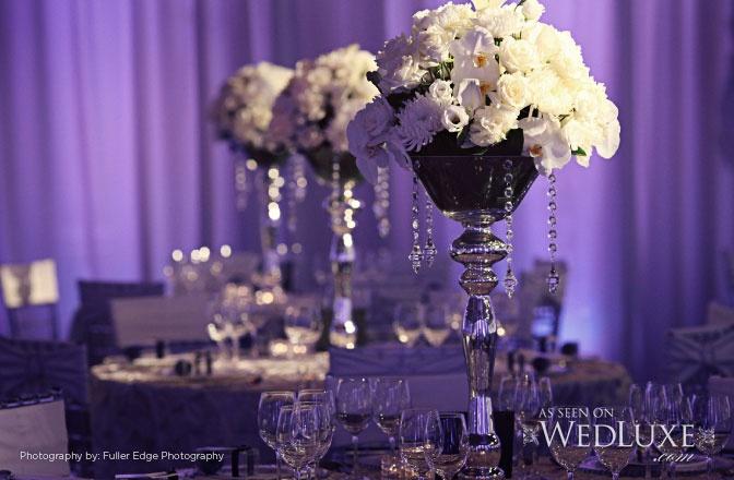 Elegant wedding centrepiece