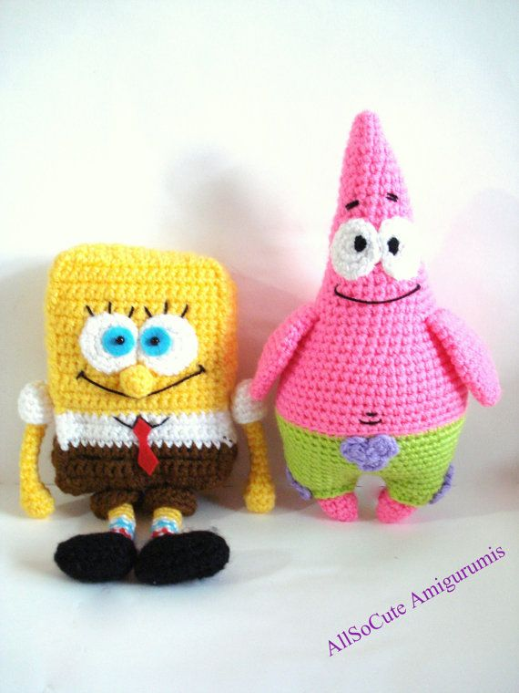 Free Crochet Pattern Patrick Star : Pattern SpongeBob And Patrick Star Pattern Crochet by ...