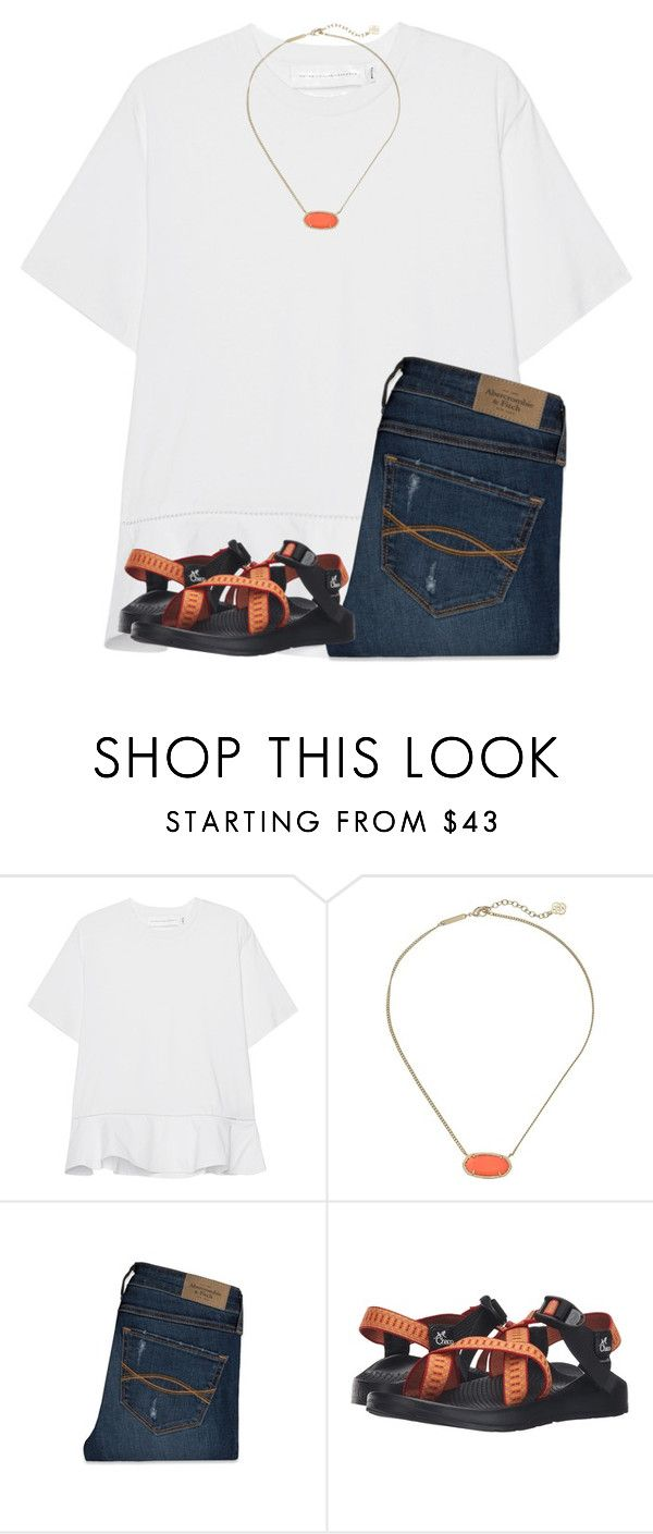 """Auburn game today!! war eagle!!"" by ponyboysgirlfriend ❤ liked on Polyvore featuring Victoria, Victoria Beckham, Kendra Scott, Abercrombie & Fitch and Chaco"