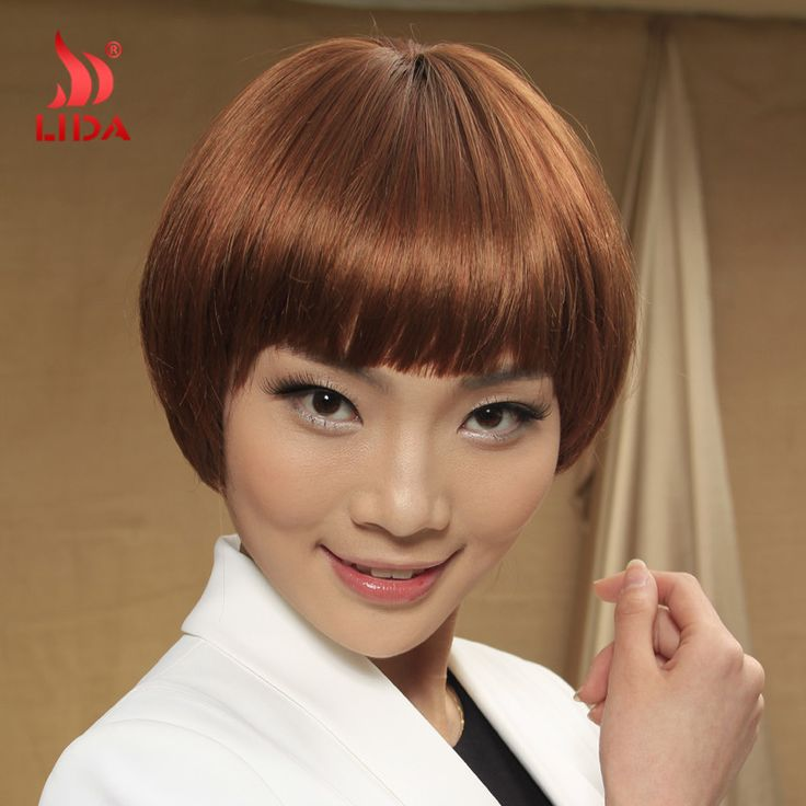 Fashionable Synthetic Wig Pure Color 30 Straight Synthetic Wig Blunt Bang Wig with Skin Top Kanekalon Fiber Synthetic Wigs Women