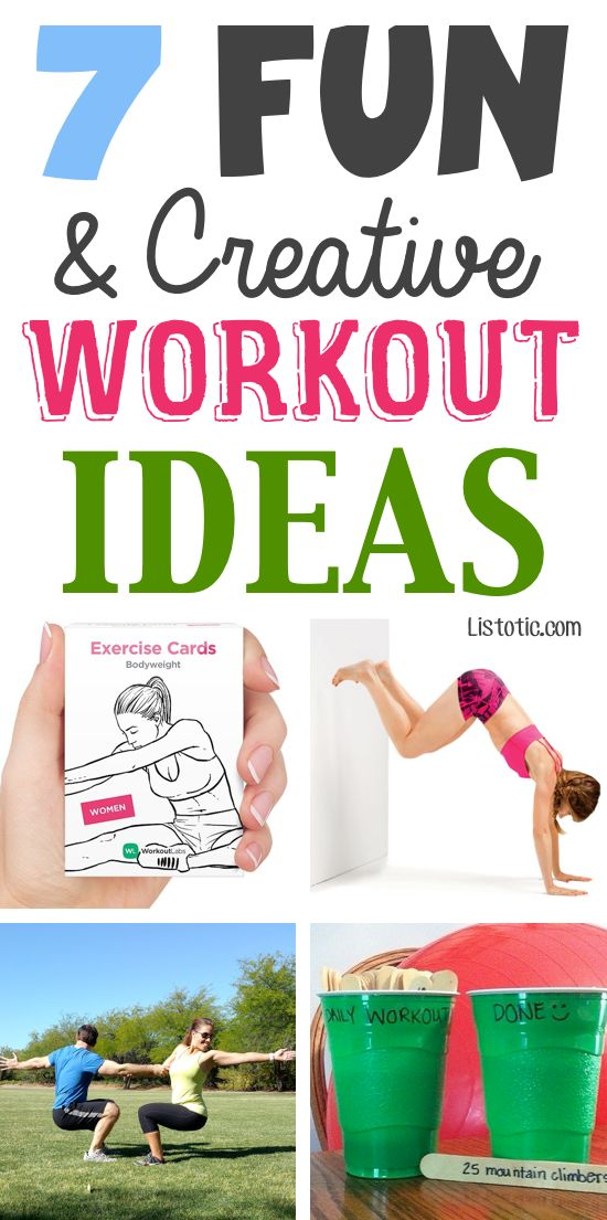 Super fun workout ideas! Just a few little things to keep your exercise routine interesting and challenging. LOVE these!