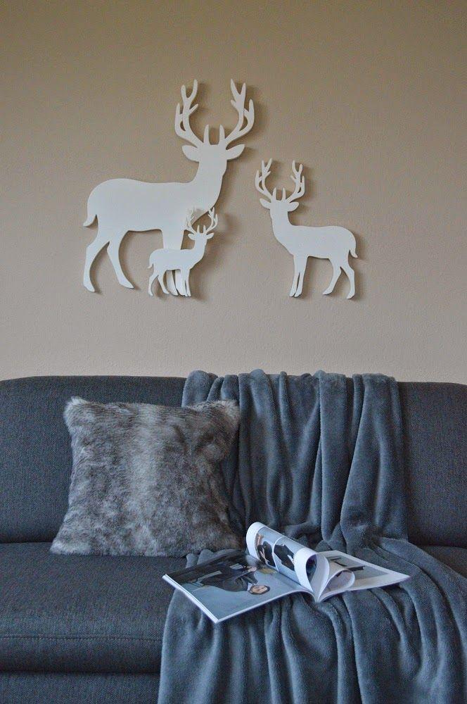nappali, living room, sofa, zara home pillow, blanket, reindeer
