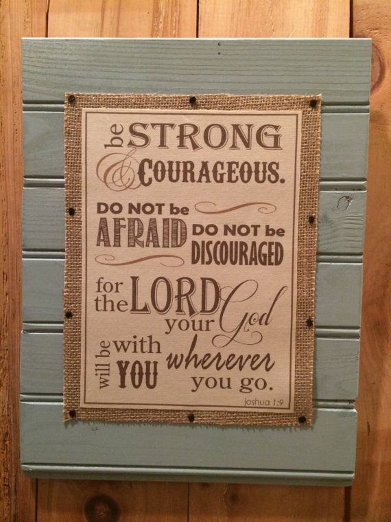 Joshua 19 On Burlap And Reclaimed Slat Wall