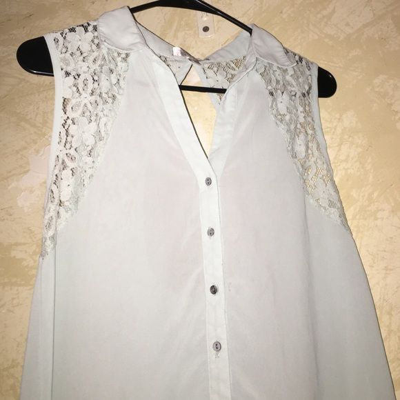 Sleeveless Mint Blouse Long, sleeveless, and opens from the back. Only worn once! J Core Tops Blouses