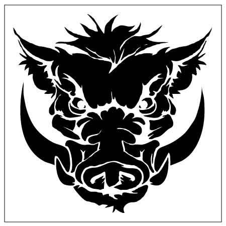 Wild Hog on Reusable Laser-cut Stencil by PearlDesignStudio on Etsy