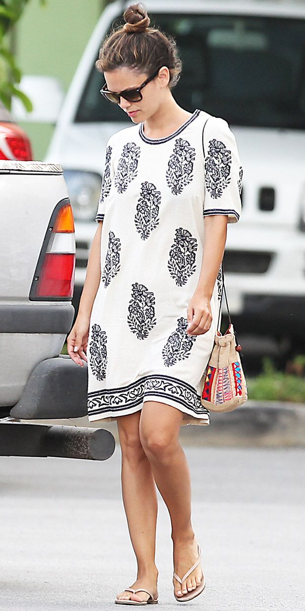 A shift dress can be worn to brunch or the beach - try it as a swim coverup! (Rachel Bilson)
