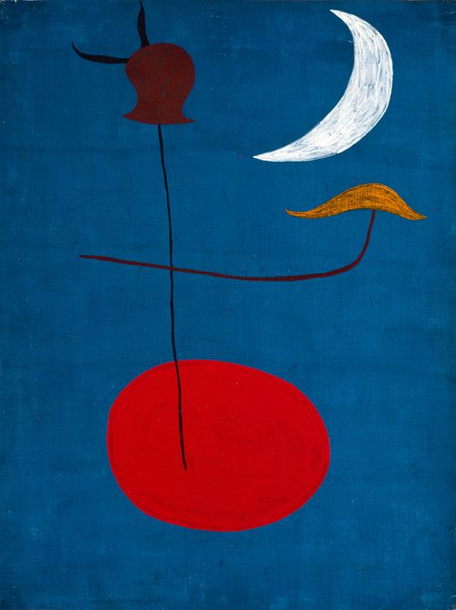 Joan Miró, Painting (Spanish Dancer) (Tapestry Design), 1926 Oil on paper mounted on canvas, 35 x 27 cm