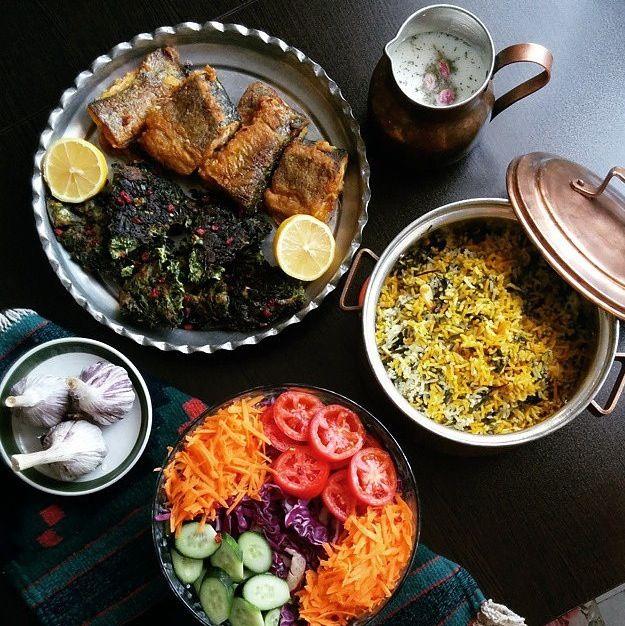 I want it all!  Sabzi polo & co!